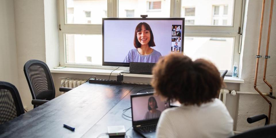 an online video conference meeting
