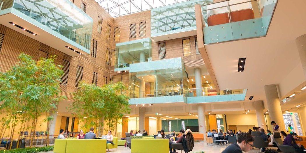 an open office building